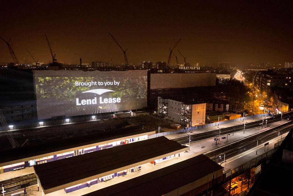 Event Projection: Elephant Park London Launch Projection