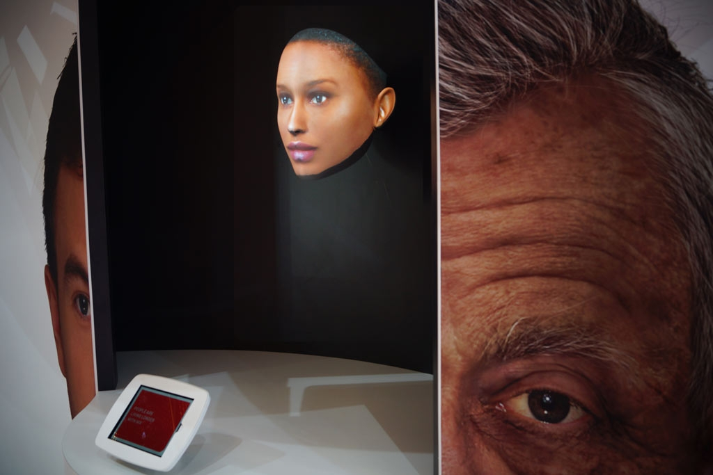 Event Projection: projection mapped face