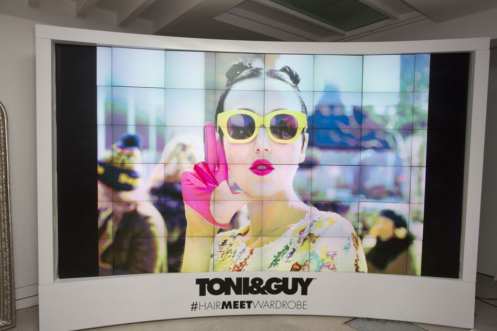 Projection for Corporate Events - Toni & Guy for London Fashion Week