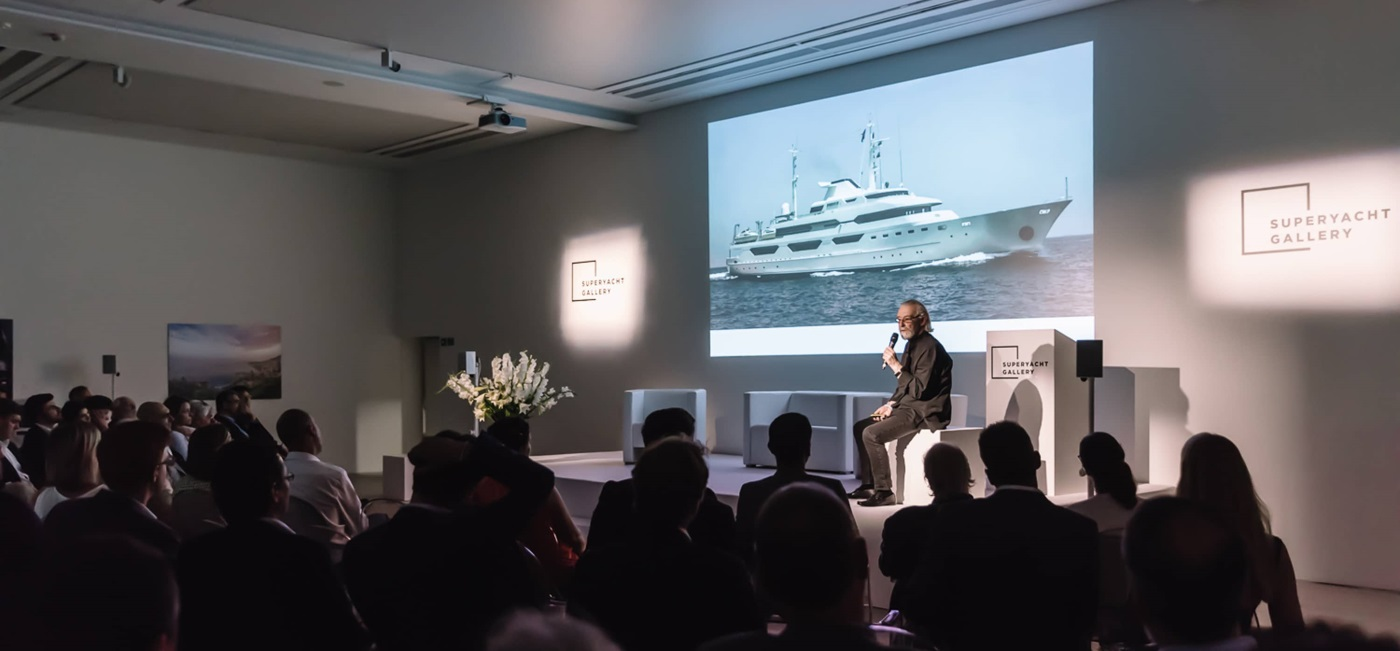 Event Projection: Creative Technical Production, Interactive and Creative Content at Superyacht Show at Saatchi Gallery