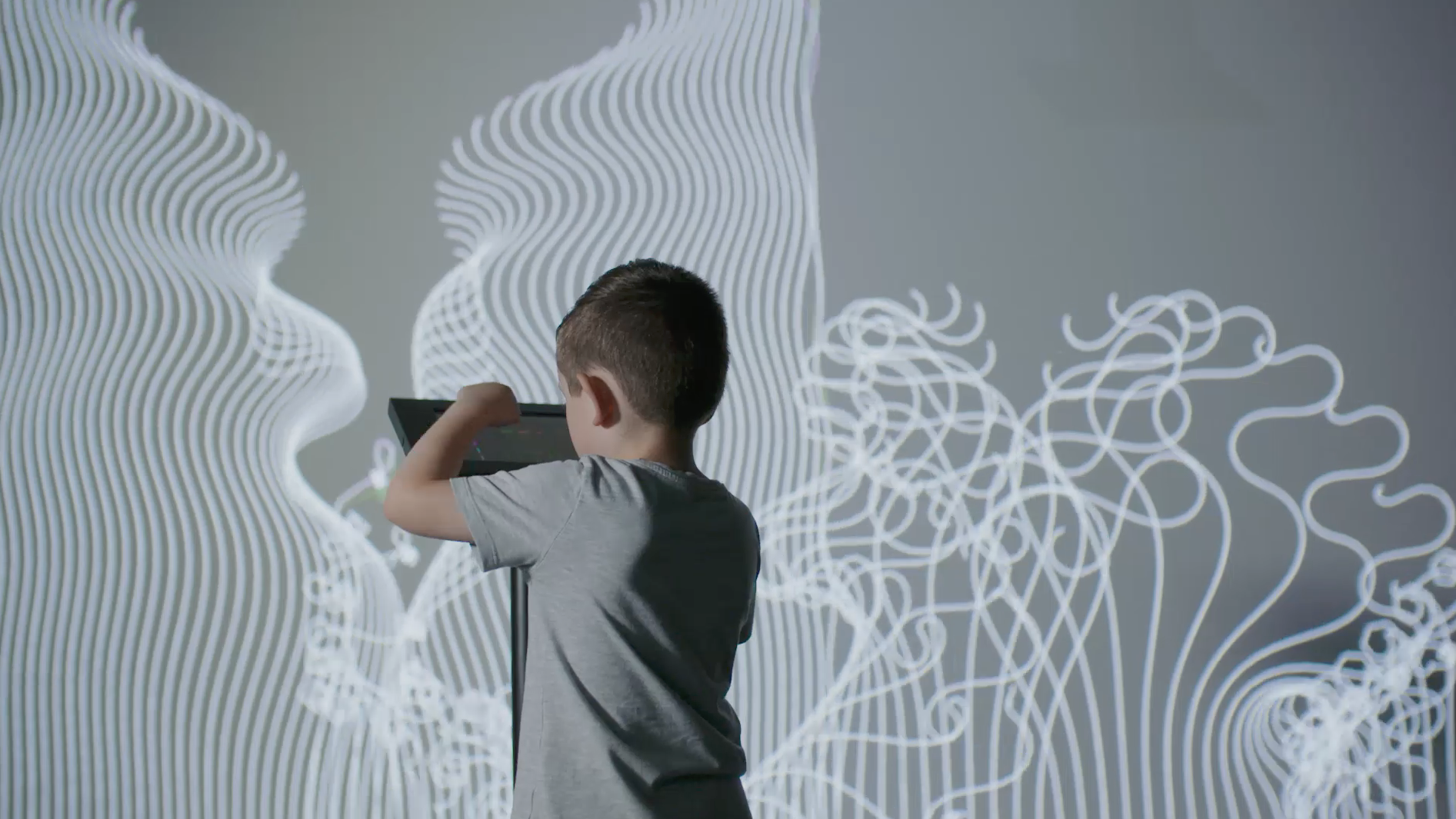 Event Projection: Digital Art Exhibition at national children's museum
