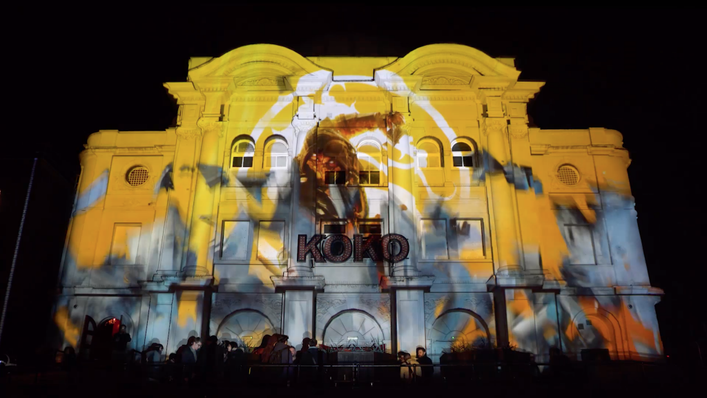 Mortal Kombat Building Projection at Koko London