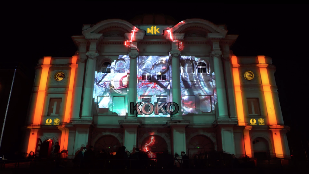 Mortal Kombat Building Projection at Koko London
